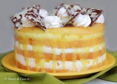 Tortul cu ananas este desertul ideal pentru iubitorii de fructe exotice. Este un tort pe baza de crema diplomat, foi pufoase de blat, ananas din compot si frisca. Tort cu ananas Cake Flavors, Chocolate Desserts, Cake Art, Diy Food, Beautiful Cakes, Vanilla Cake, Bacon, Cheesecake, Deserts