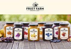 Fruit Farm Organic Jams by Dylan Wright, via Behance #packaging