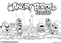 Piggies Seasons Coloring Page!