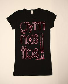 Hot Pink and Black Gymnastics