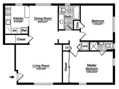 2 Bedroom House Plans Free | Two Bedroom | Floor Plans | Prestige Homes Florida | Mobile Homes