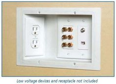 Push your appliances flush against the wall by installing recessed outlets - 37 Home Improvement Ideas