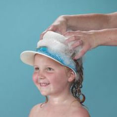 The Clippasafe Shampoo Eye Shield is small enough to take when swimming to wash hair afterwards. The distraction of washing hair in the strange environment of a swimming pool changing room can help to break a child's habit of making a fuss during hair washing. http://www.babysecurity.co.uk/clippasafe-shampoo-eye-shield.html