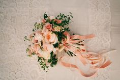 peach bouquet, photo by Christine Lim http://ruffledblog.com/berkeley-church-wedding #weddingflowers #weddingbouquet #flowers
