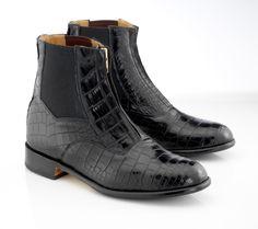 Custom black alligator Der Dau paddock boots