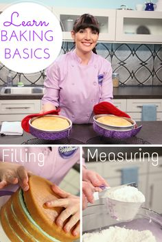 Make cakes with no crumbs, no crowning and no cracking, so you have a flawless decorating surface — every time! Join pastry chef Beth Somers as she demystifies bakeware, pan preparation and measuring techniques. Baking Basics, Baking Tips, Baking Recipes, Cake Recipes, Dessert Recipes, Baking Secrets, Cakes To Make, How To Make Cake, Cake Decorating Classes