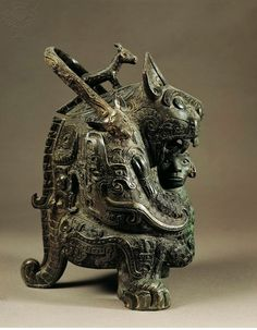 1. Bronze work 2. Shang dynasty made it 3. Shows that there was Bronze