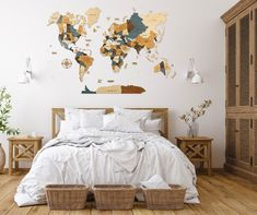 3D World Map for Scandinavian Wall Decor by WoodPecStudio. Wood Map Wall Art Wood Wall Art Wooden Map. Beige, brown, blue Wood World Map Rustic World Map Travel Map World Map Wall Decor Halloween Decor. Each part of the world map is painted manually hypoallergenic paints. Suitable for any interior and will give a warm atmosphere in the apartment / house / office. Material - top quality birch plywood of different thickness (3 - 5 mm) #mapdecor #kitchenwalldecorideas #nurserydecor
