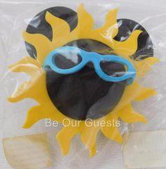Disney Theme Parks Mickey Sun Sunshine Glasses Antenna Car Topper New