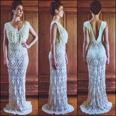 Handmade Crochet Wedding Dress LUNA LLENA by IsaCatepillan on Etsy