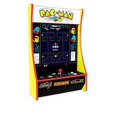 Partycade with Pac-Man, Galaga and Galaxian - 9327006 Arcade Game Machines, Arcade Machine, Tabletop Arcade Games, Arcade Joystick, No Quarter, Save Changes, Pokemon Games, School Fun, One Design