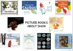 Picture books about snow.