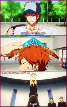 "Rin and Momotaro ""Rin-senpai, what souvenir did you get me? Koala? Kangaroo?"""