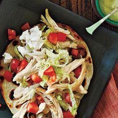 Chicken Tostadas and Avocado Dressing Recipe | MyRecipes.com