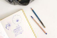 No meu sketchbook