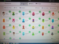 Students choose their avatar on ClassDojo and accumulate points based on their behavior.