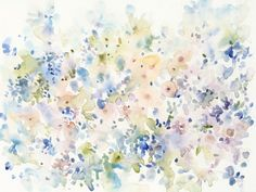 Large Floral Watercolor Abstract with Pastel Tones. Flowing Colors II Wall Art By: Tim O'Toole from Great BIG Canvas. Watercolor Artwork, Floral Watercolor, Canvas Prints, Framed Prints, Art Prints, Canvas Frame, Big Canvas, Botanical Art, Wall Art