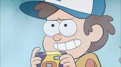 Dipper holds a camera.