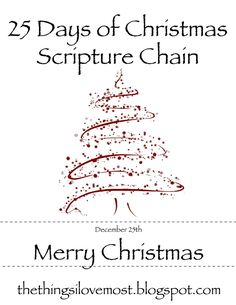 Our Christmas Traditions - 25 Days of Christmas Scripture Chain