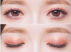 korean make up pinkish brown eyeshadow Korean Makeup Look, Korean Makeup Tips, Asian Eye Makeup, Korean Makeup Tutorials, Make Up Looks, Makeup Haul, Hair Makeup, Ulzzang Makeup, Makeup Tumblr
