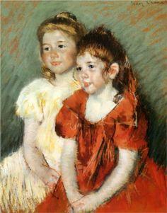 1897 Young Girls - Mary Cassatt Technique: pastel Matériel: papier Dimensions: 52,705 x 63,5 cm Galerie: Indianapolis Museum of Art, Indianapolis, Indiana, États-Unis