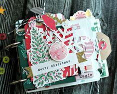Clear Scraps Christmas Little Bits Mini Mixable Album Christmas Mini Albums, Christmas Journal, Christmas Scrapbook, Christmas Minis, Retro Christmas, Christmas Snowman, Christmas Christmas, Mini Albums Scrap, Mini Scrapbook Albums