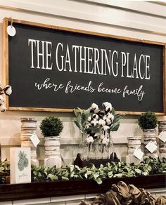 The Gathering Place Sign / Large Sign / The Gathering Place / Wood Sign Measurements Farmhouse Signs, Farmhouse Decor, Modern Farmhouse, Farmhouse Ideas, Farmhouse Table, Handmade Home Decor, Diy Home Decor, Do It Yourself Decoration, Home Decoracion