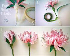 Decora Recicla Imagina …: Tutorial: Flores de Papel - Paper Flowers Tutorial