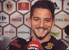 Happy to be here! Coca Cola, Dries Mertens, Number 14, Soccer Players, Baseball Cards, Game, Happy, Necklaces, Football Players
