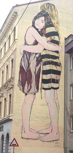 12.District, Street art Street Art Graffiti, Urban Art, Painting & Drawing, Modern Art, Aurora Sleeping Beauty, Paintings, Disney Characters, Drawings, Illustration