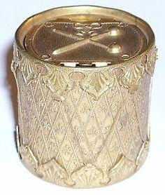 Victorian Avery brass needle case Drum | eBay