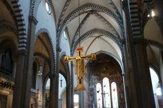 Inside the church of Santa Maria Novella