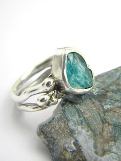 Hey, I found this really awesome Etsy listing at https://www.etsy.com/listing/243976753/abstract-apatite-ring-sterling-silver