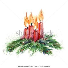 Watercolor Christmas Card Stock Photos, Images, & Pictures ...
