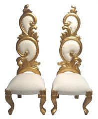 VELVET AND GOLD BAROQUE LOUIS XVI STYLE DECORATOR ACCENT CHAIR | Diamond One Decor