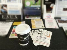Love seeing my #flyers when I'm out and about having #coffee #advertising #promoting #biz  www.how2useit.co