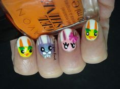 I created a manicure like this one year ago, but never posted it since I didn't quite like it, also I thought in a years time my nails wil. The Fool, My Nails, Manicure, Easter, Nail Art, Funny, Nail Bar, Nail Manicure, Easter Activities