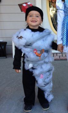 Lindsey Phillips writes: ''My daughter is quite a destructive little girl so I thought a tornado would be very fitting. I couldn't find a design online that would allow her to move so I created this design so she could still run around like a two year old does.''