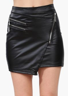 Leather Mini Skirt So cute, would have so worn this 40 years ago, I hate getting old and missing out on such cute clothes!!