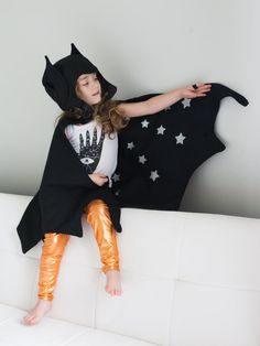 BATS!! Reversible Cape & Hat set