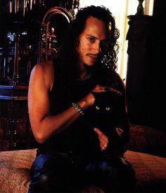 Kirk Hammett and his black cat