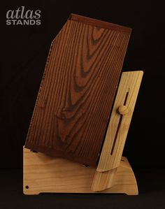 "Atlas Amp Stand - Low Rider design with backrest extensions and a ""Kick-Out"" guitar stand - paulownia timber  Build Thread:   http://atlas-stands.com/koch-jupiter-1x12-combo-paulownia-low-rider-amp-stand-w-kick-guitar-stand/"