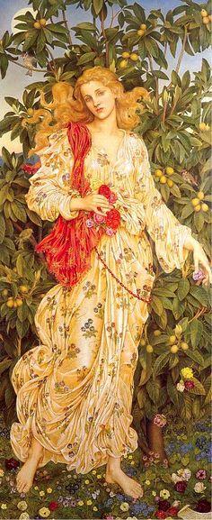 """Nouveau Flora"" ~ Evelyn de Morgan"