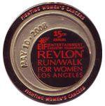 Revlon Run Walk 2008 Medal, 15 years strong