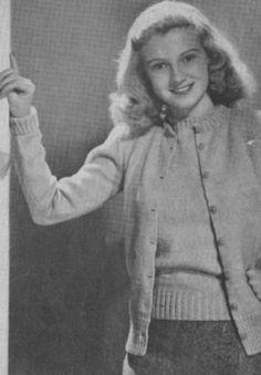 1940's Knitting - Twin Sweater Set free pattern
