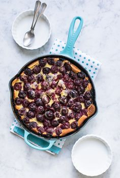 Boozy Cherry Clafoutis for Bastille Day www.pineappleandcoconut.com #HolidayFoodParty