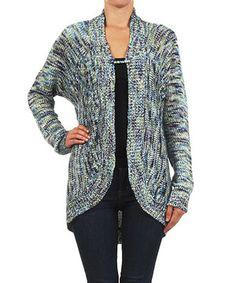 Look what I found on #zulily! Karen T. Design Blue Variegated Dolman Cardigan by Karen T. Design #zulilyfinds