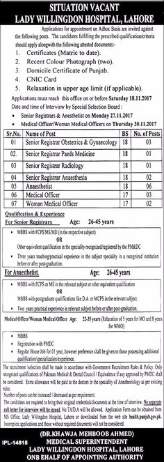 Ayub Medical College And Medical Teaching Institution Jobs  In