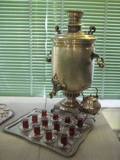 Samovar at the royal kitchen museum of Sa'ad Abad Palace, Tehran, Iran | pix & stories of drinking in Iran by @Figandquince #chai #tea