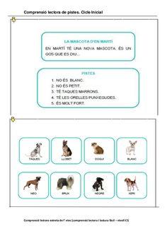 Resultat d'imatges de comprensió lectora per cicle inicial Catalan Language, Math Concepts, Lectures, Conte, Preschool, Education, Valencia, Leo, Google